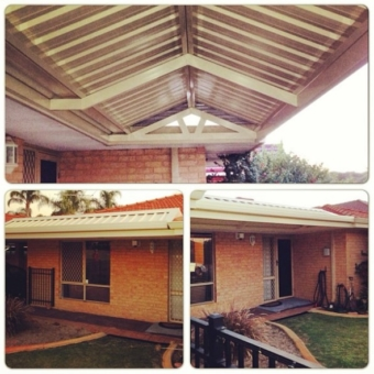 Colorbond gable patio large span