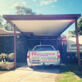 Flat custom single carport