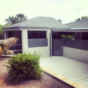Hipped double carport