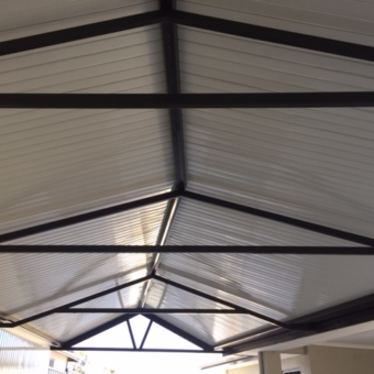Irregular tapered gable, high gloss.
