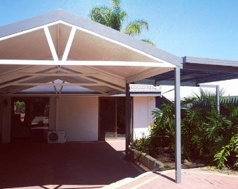 Solar span insulated double gable patio